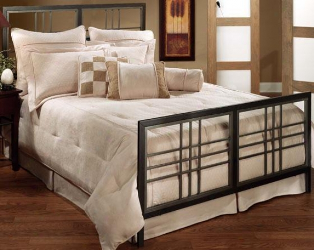 Pestr Bed - Twin, Gray