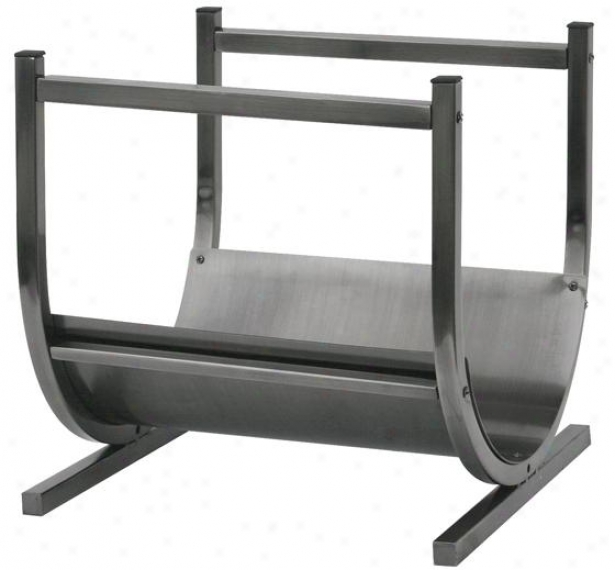"""pewter Log Rack - 17""""bx15""""wx12""""d, Gray"""