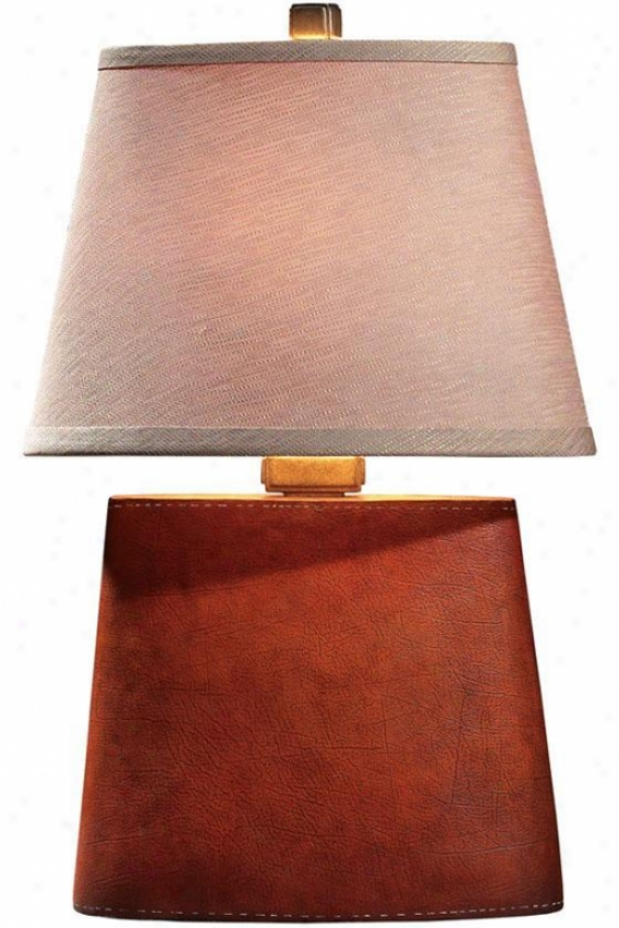 """phaedra Table Lamp - 22""""hx8""""w, Antique Leather"""