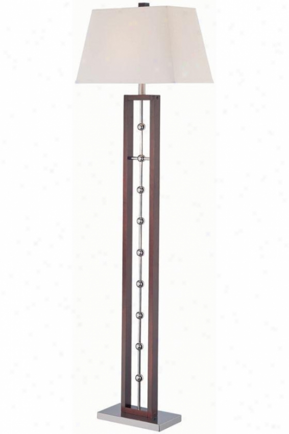 """pharell Floor Lamp - 18.5""""x61.5"""", Dk Wlnt/chrome"""
