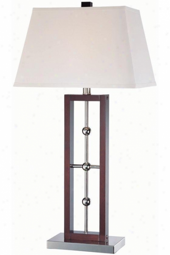 """pharell Table Lamp - 16""""x30.75"""", Dk Wlnt/chrome"""