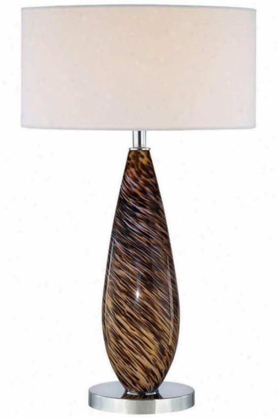 """phillips Tablw Lamp - 30""""hx18""""d, Earth Tones"""