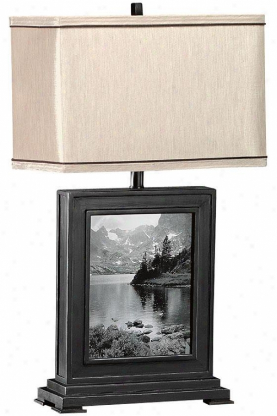 Photo Slab Lamp - Taupe, Black