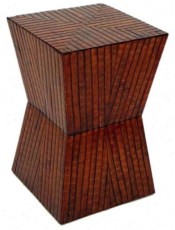 """poao Stool - 20""""hx13""""sqq, Tan"""