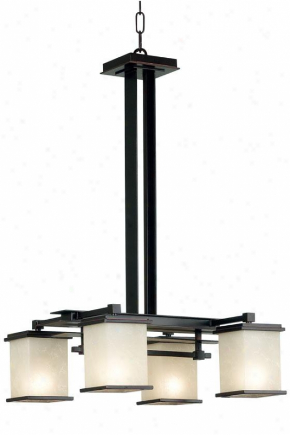 Piedmont Chandelier - 4-lightt, Oil Rubbed Bronze
