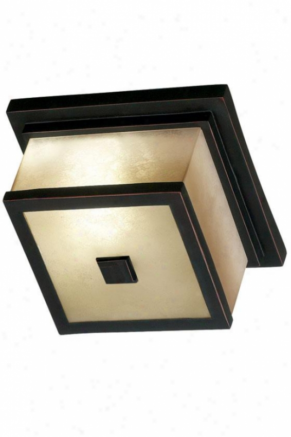 Piemdont Outdoor Flush Mount - 2-light, Oil Rubbed Bronze