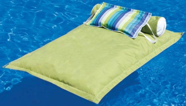 """pillowtop Pond  Float - 68""""hx44""""w, Gingko Green"""