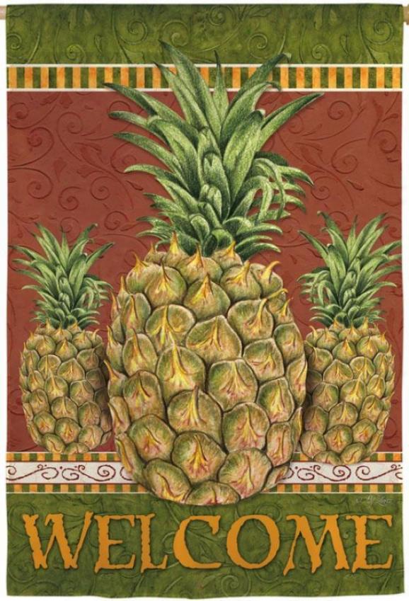 Pineapple Trois Flag - Garden, Light Yellow