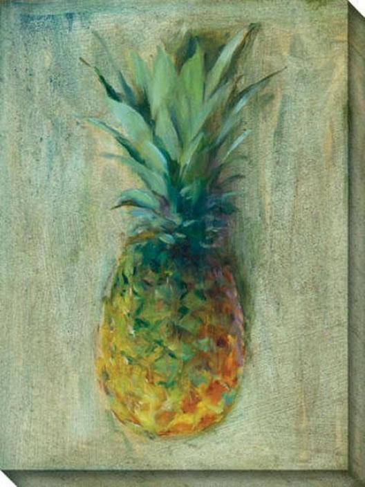 Pineapples Iii Canvad Wall Art - Iii, Green