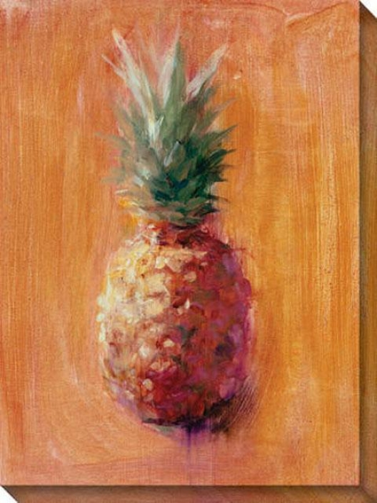 Pineapples Vi Canvas Wall Art - Vi, Orange