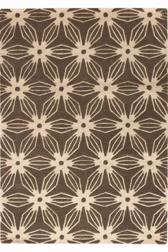 """pinwheel Area Rug I - 2'6""""x4'6"""", Brown"""