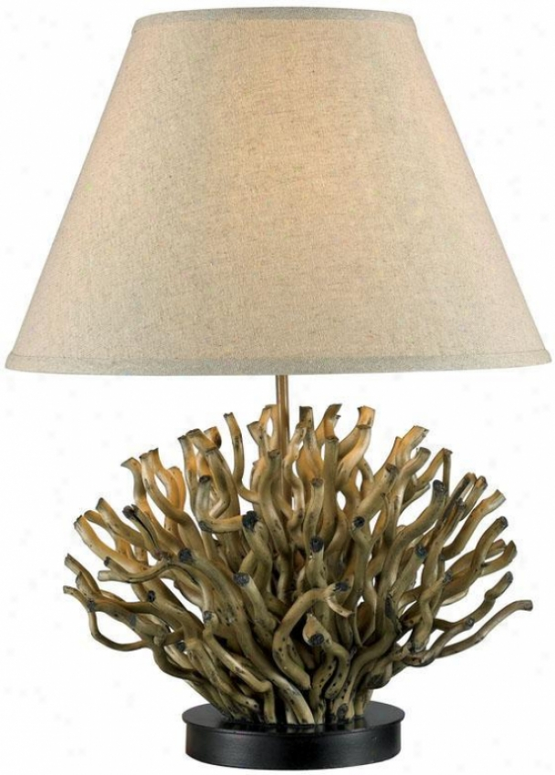 """pipeer Table Lamp - 26""""hx18""""d, Natural Reed"""