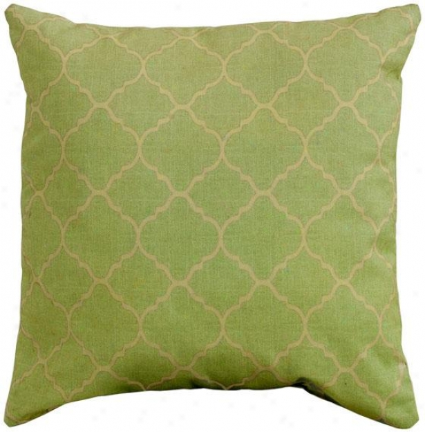 """pisa 16"""" Square Outdoor Pillow - 16""""sq Pisa, Green"""
