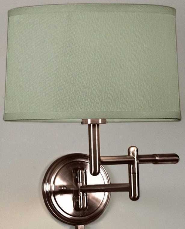 Pivoting Swing-arm Pin-up Lamp - Sage, Copper Bronze
