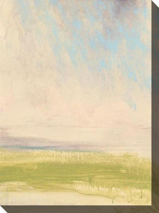 Plain View I Canvas Wall Art - I, White