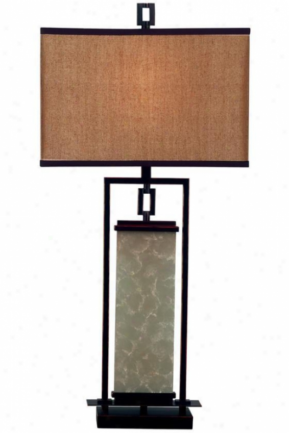 """plateau Table Lamp Ii - 32""""h, Copper Bronze"""