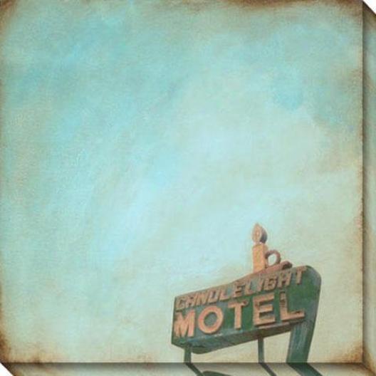Polaroid Skies I Canvas Wall Art - I, Blue