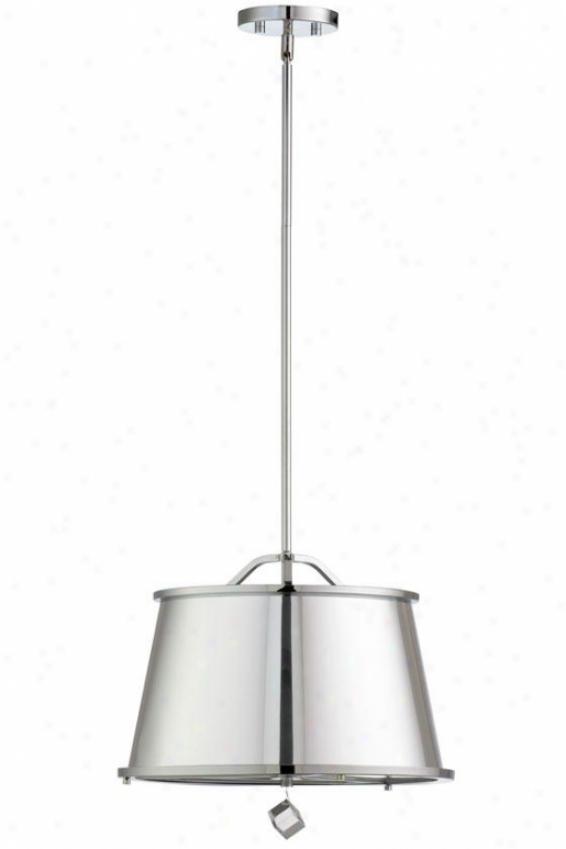 Polished Chrome Pendant - 3-light, St3el Gray Chrome