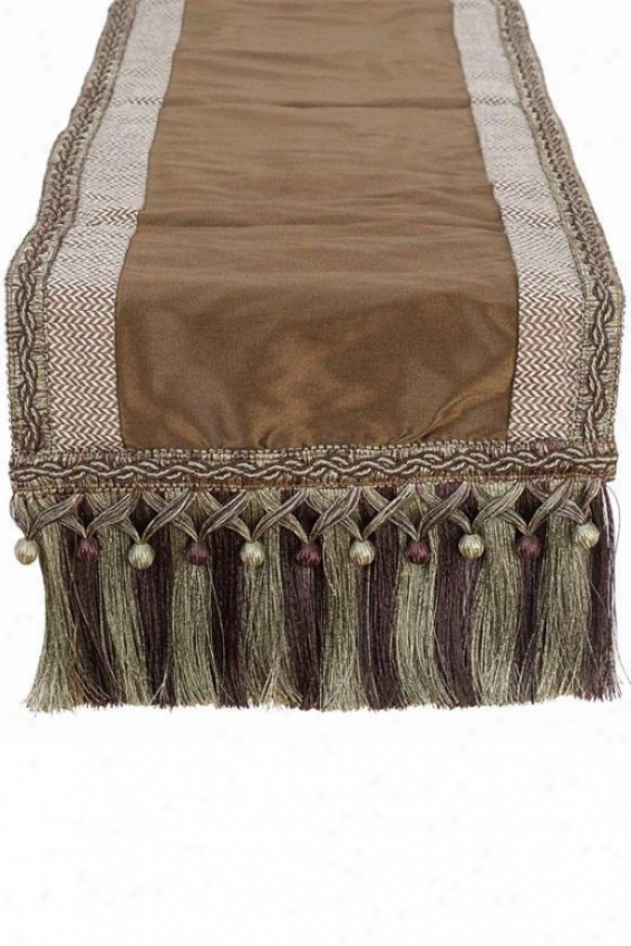 """Refined Table Runner - 12""""hx72""""w, Chocolate Brown"""