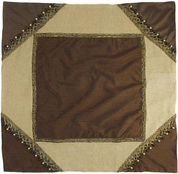 """polished Tavle Topper - 40"""" Square, Chocolate Brown"""