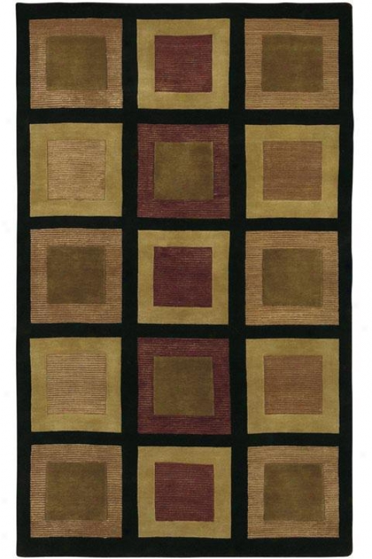 Polygon Area Rug - 2'x3',, Black
