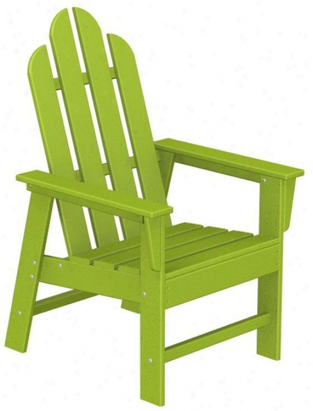"""polywood  Adirondack Arm Chair - 42.5""""hx26.5""""w, Lime Green"""