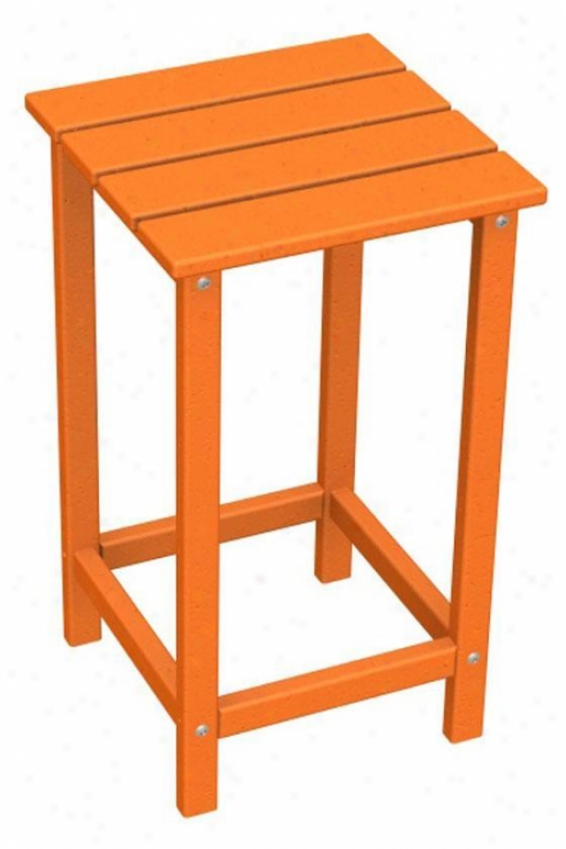 """polywood  Adirondack Counter Table - 26""""hx15""""w, Orange"""