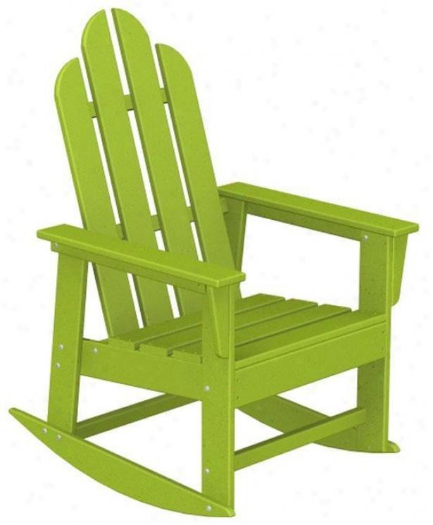 """polywood  Adirondack Rockihg Chair - 41""""hx26.5""""w, Lime Green"""