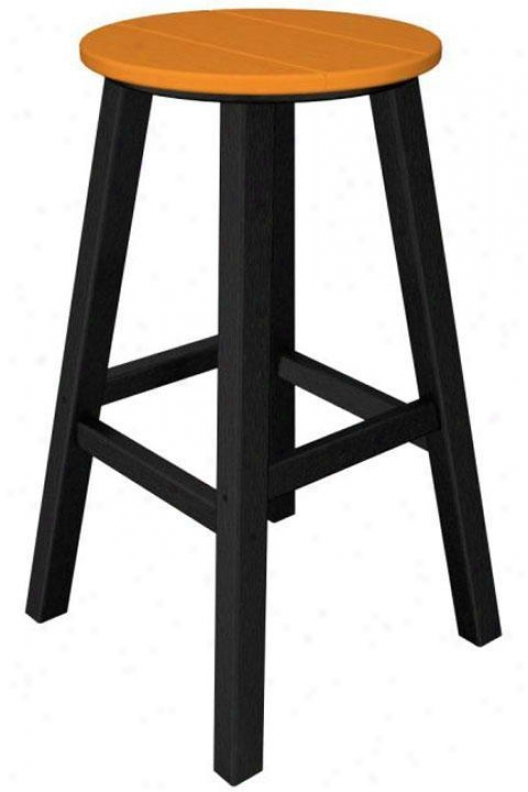 Polywood  Bar Stool - Set Of 2 - Black, Orange