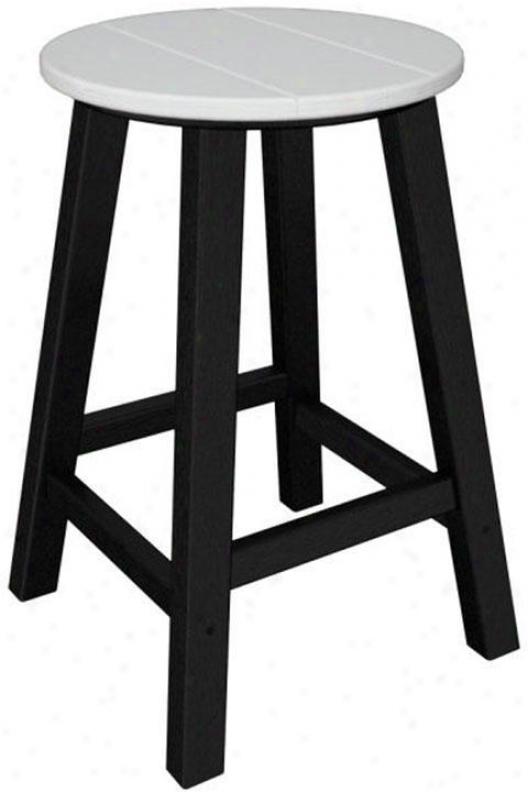 Polywood  Counter Stool - Set Of 2 - Black, White