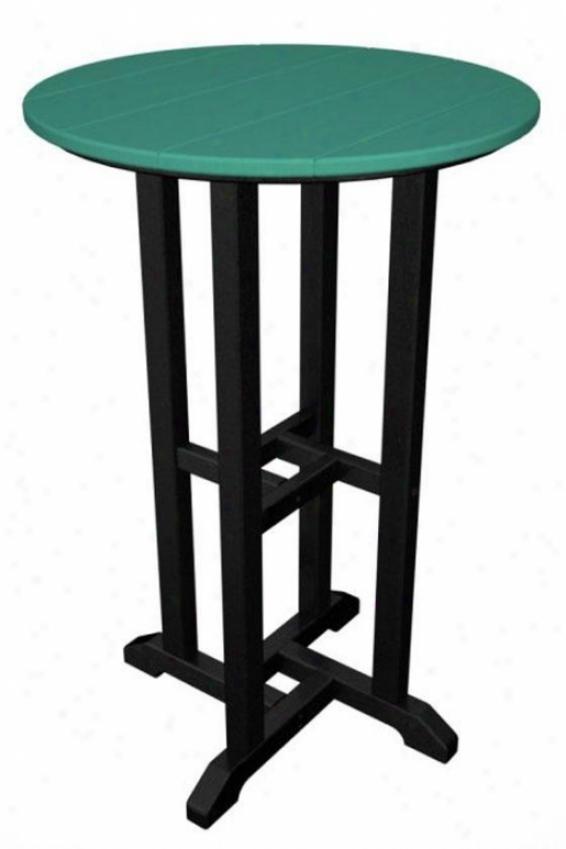 Polywood  Counter Table - Black, Aruba
