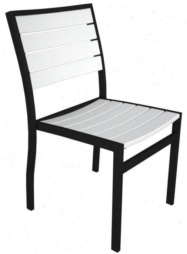 Polywood  Dining Side Chair - Black, Pale