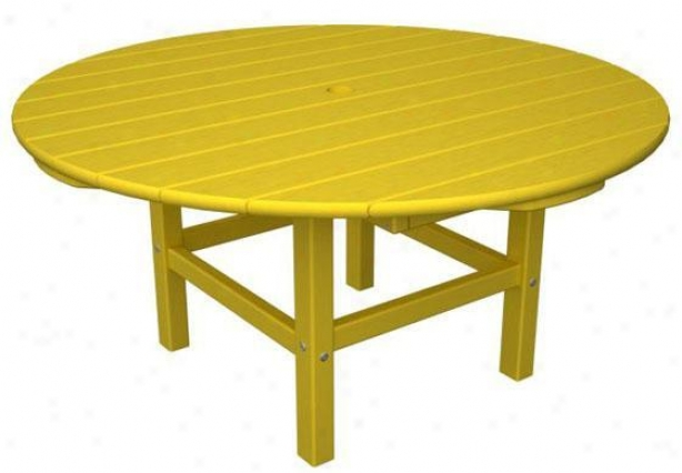 """polywood  Round Conversation Table - 18""""hx38""""w, Yellow"""