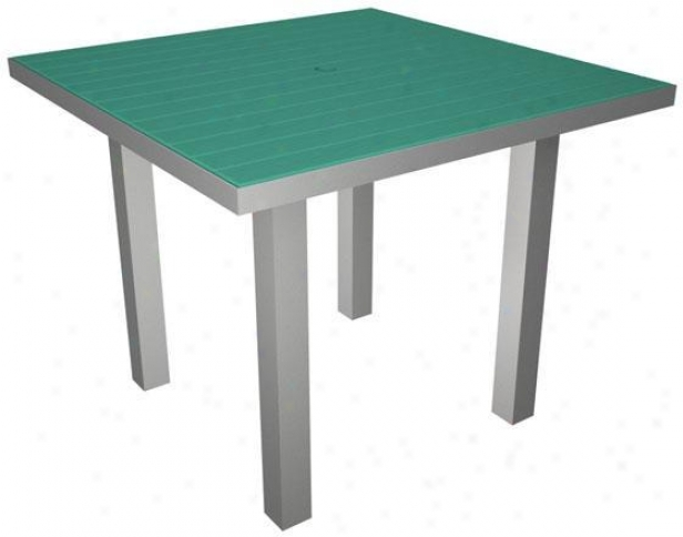 Polywood  Square Dining Table - Silver, Aruba