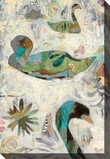 Pond Ii Canvas Wall Art - Ii, White