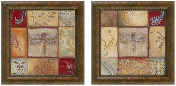 Pond Life Framed Wall Art - Set Of 2 - Set Of Two, Ewrthtones