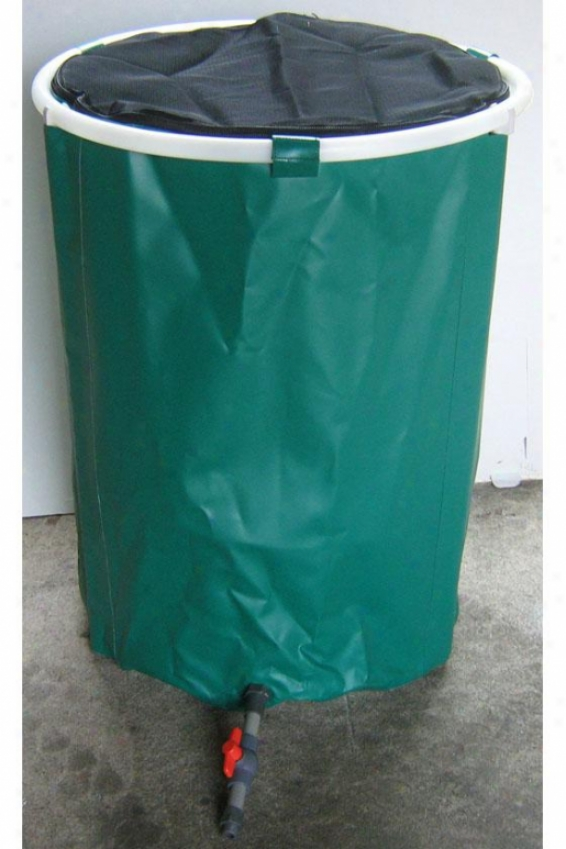 Pop Up Supply with ~  Barrel - 50 Gallon - 50 Gallons, Green