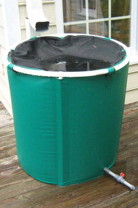 Pop Up Water Barrel - 75 Gallon - 75 Gallons, Green