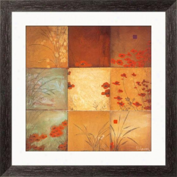 """poppy Nine Patch Framed Wall Art - 28""""hx28""""w, Esprso Cube Frm"""