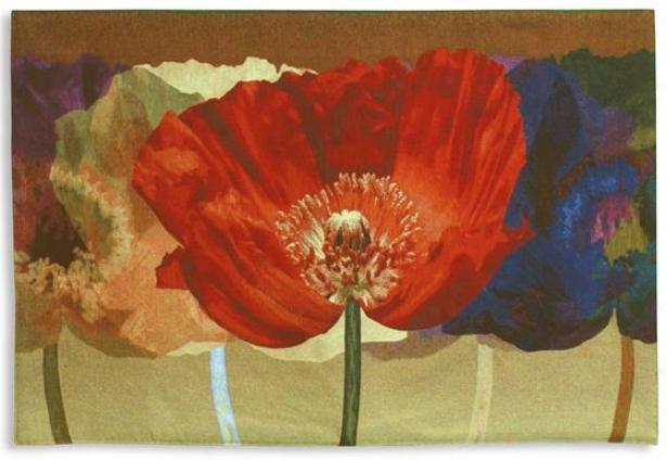 """""""poppy Tango Tapestry - 35""""""""hx52""""""""w, Murky"""""""