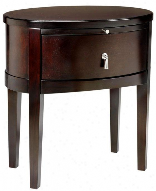Port Nightstand - Oval, Brown