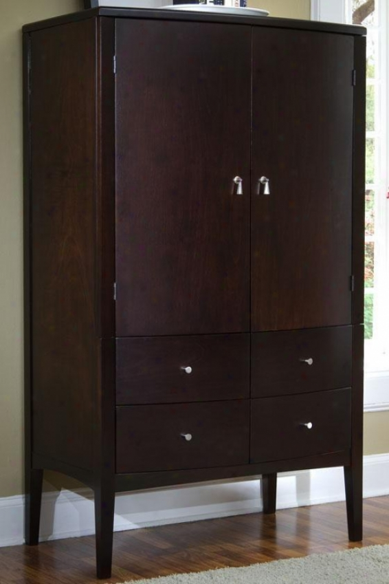 Port Tv Armoire - 2door/4drawer, Brown