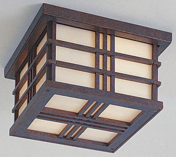"""porter Outdoor Ceilinng Fixture - 5.25""""h X 8.5""""w, Weather Patina"""