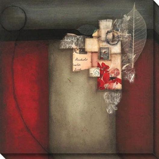 Preceding I Canvas Wall Art - I, Red