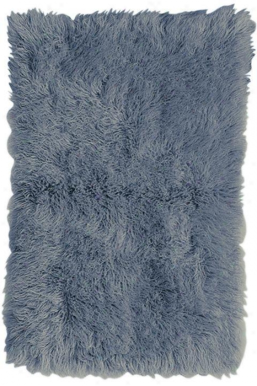 Premium Flokati Area Rut - 9'x12', Denim Blue