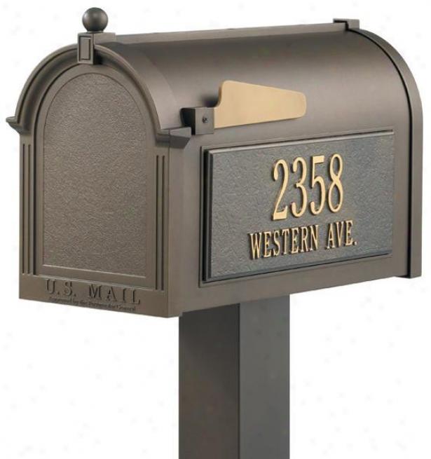"""premium Personalized Maiblox Package - 50""""hx10""""wx20""""d, Bronze"""