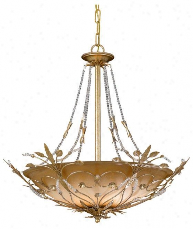Primrose Bowl Chandelier - 6-light, Gold