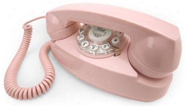 """princess Phone - 4.25""""hx8.5""""w, Pnik"""