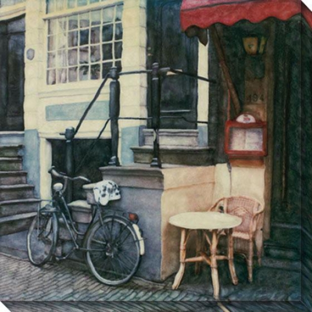 """prinsengracht Canvas Wall Art - 40""""hx40""""w, White"""