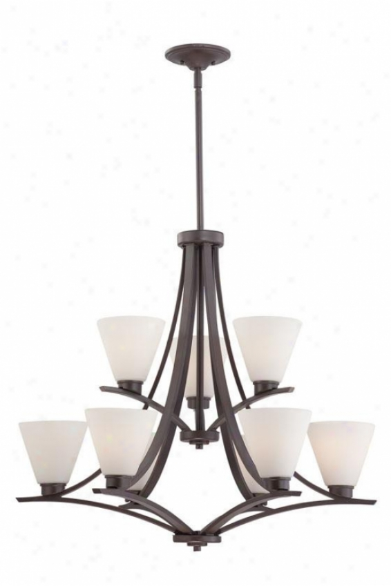 Priscilla 9-light Chandelier - 9-light, Westerly Bronze